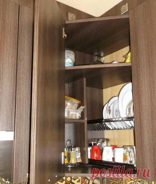 сушилка в угловом шкафу кухни фото деревень много