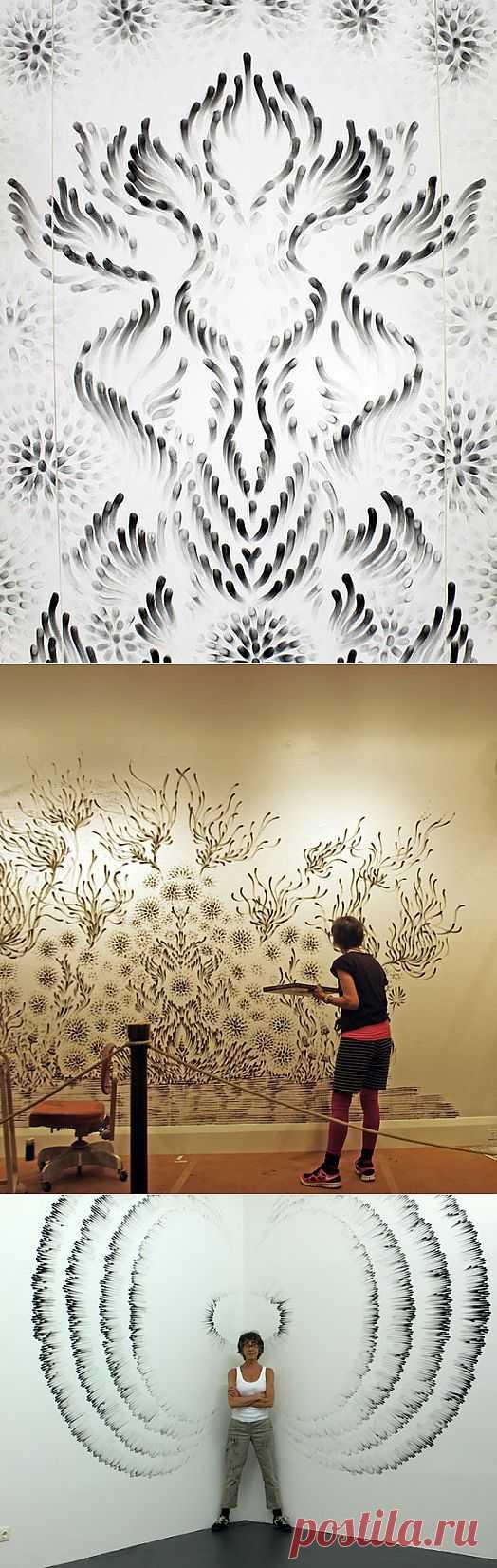Угольные картины Джудит Браун / Декор стен / Модный сайт о стильной переделке одежды и интерьера