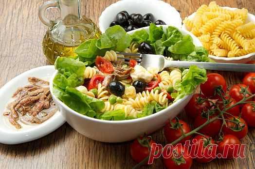 Цезарь-салат с пастой