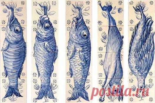панно рыбы и дичь стиль 17 века, подойдёт для кухни ,охотничего дома,дачи.