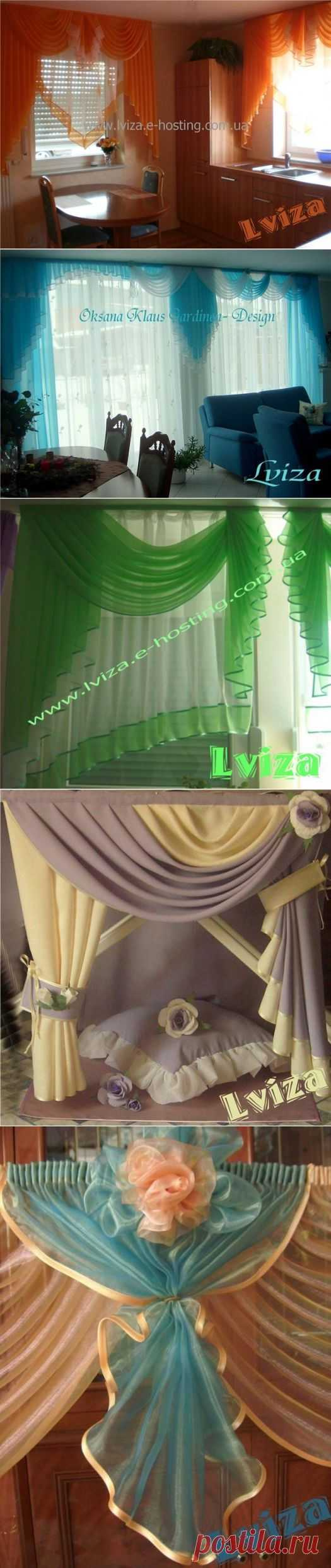"""CURTAINS from the designer Oksana Claus (Lviza)! The 40th mix models bright, easy and streaming! This is the romantic and talented skilled worker from Germany. Its style is recognized, works are faultless! On """"Осинке"""" it not the beginner, all know it under a nickname """"Львица""""."""
