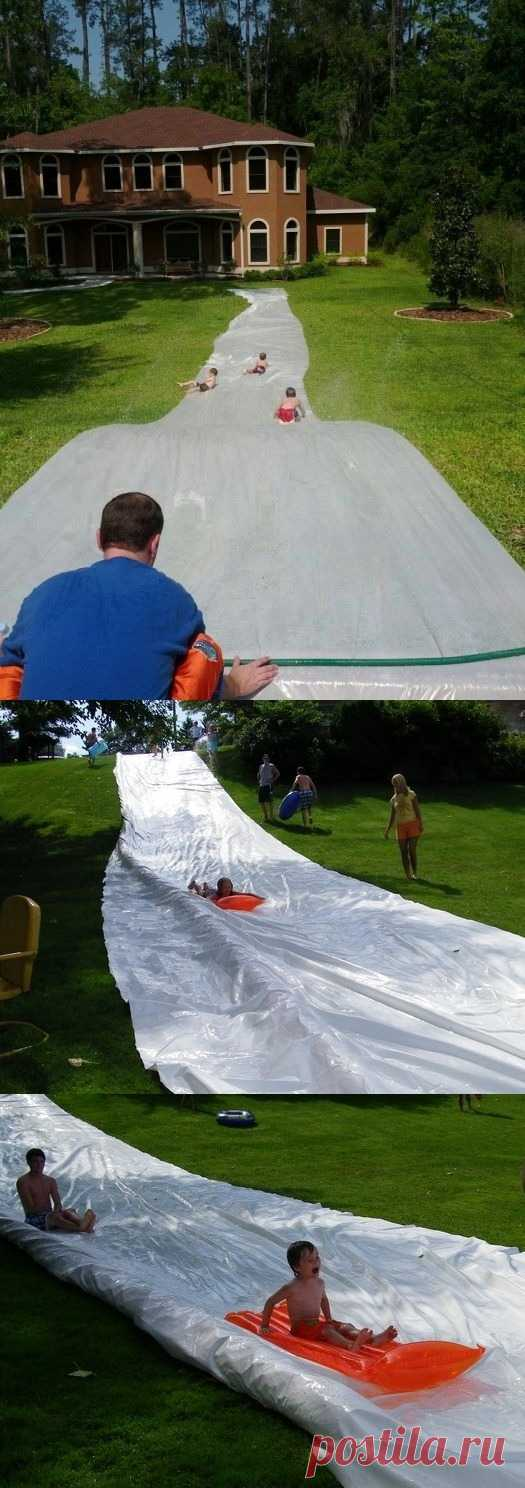 Las ideas de los entretenimientos infantiles – el parque acuático improvisado