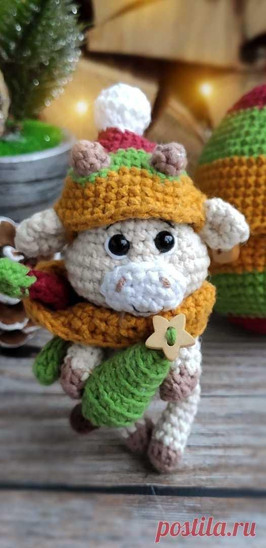 PDF Бычок в яйце крючком. FREE crochet pattern; Аmigurumi animal patterns. Амигуруми схемы и описания на русском. Вязаные игрушки и поделки своими руками #amimore - корова, коровка, телёнок, бык, маленький бычок.