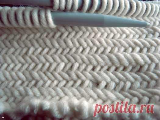 Вязание ёлочкой (мастер-класс) Модная одежда и дизайн интерьера своими руками