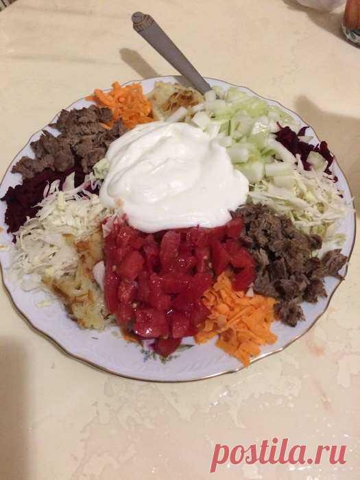 Салат «Татарский» — ела такой на свадьбе, а теперь готовлю своим | Офигенная