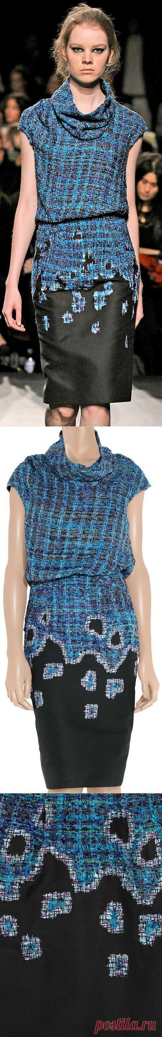 Твидовое платье ERDEM / Фактуры / Модный сайт о стильной переделке одежды и интерьера