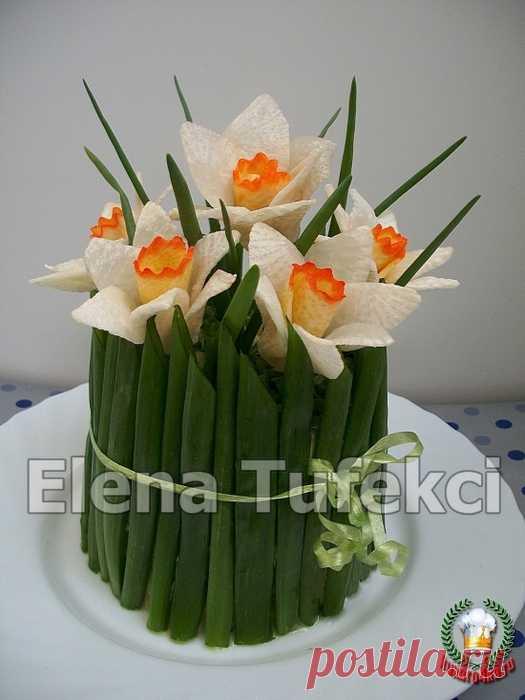 """Букет нарциссов"" salad; - very beautiful and tasty"