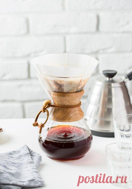 Дешевле кофемашины: как заварить кофе в воронке и кемексе | The Coffee Times | Яндекс Дзен