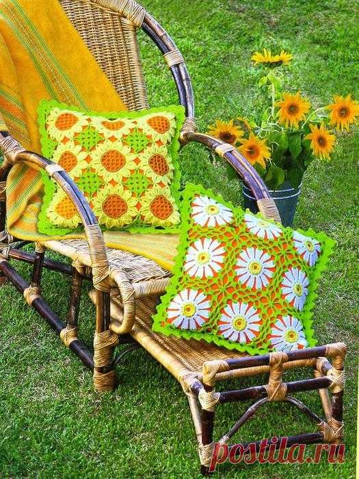 Вязание крючком - подушки.