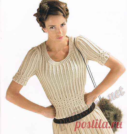 Пуловер с короткими рукавами (ж) 05*13 CB №2174