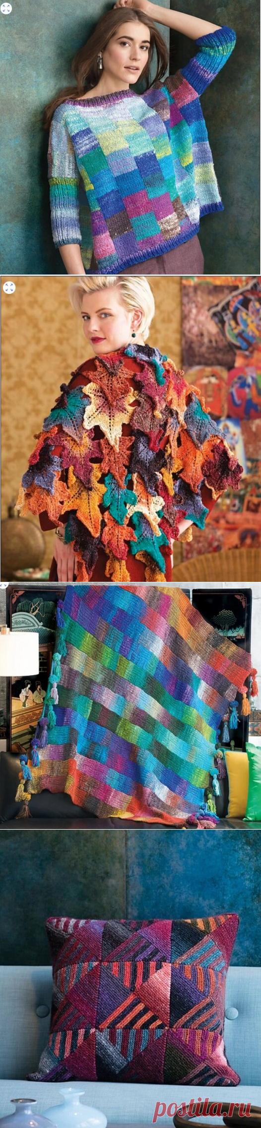 Взгляните на потрясающие работы из секционной пряжи Noro | Вязание и творчество | Яндекс Дзен
