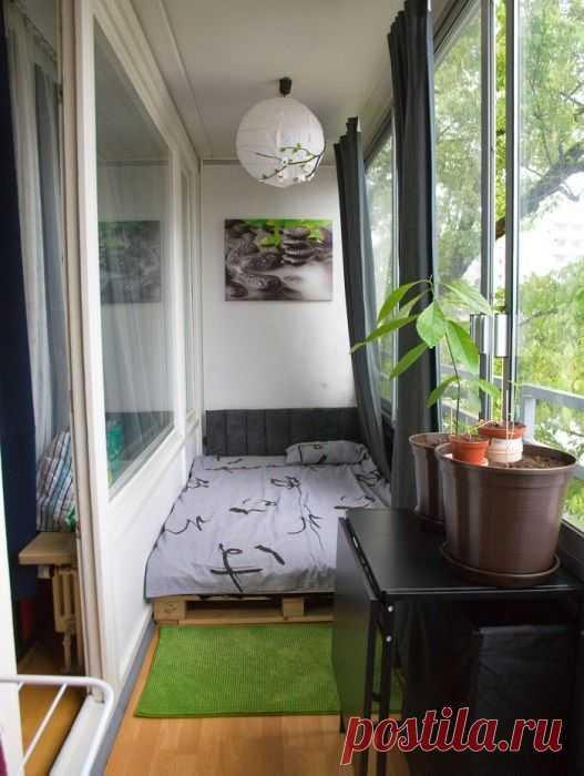 Спальня на балкoне