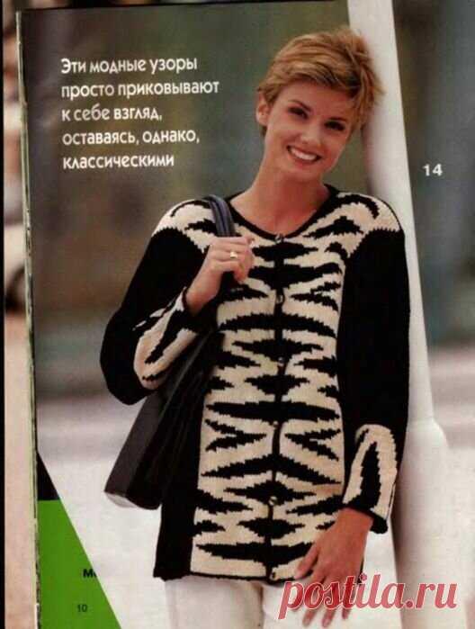 Черно-белое и бело-черное вязание спицами. Схемы. | Марусино рукоделие | Яндекс Дзен