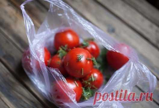 Los tomates en los paquetes