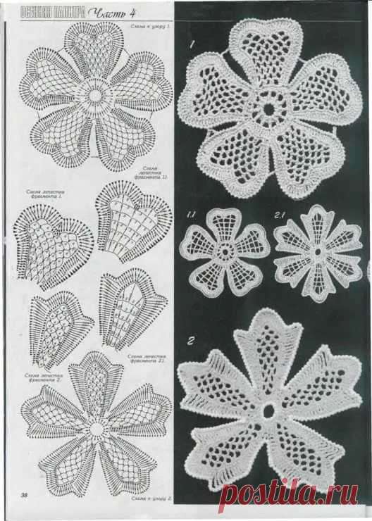приписывает основание схемы и фото цветочных мотивов тунисским способом развалинах ммм