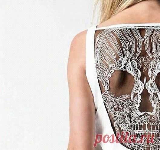 Череп на спину / Декор спины / Модный сайт о стильной переделке одежды и интерьера