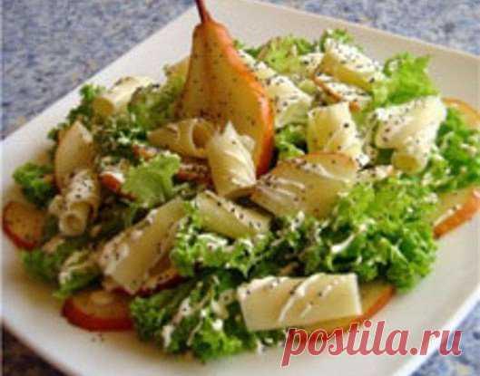 Салат из груши и сыра с цитрусовой заправкой (Готовим с Алексеем Зиминым)