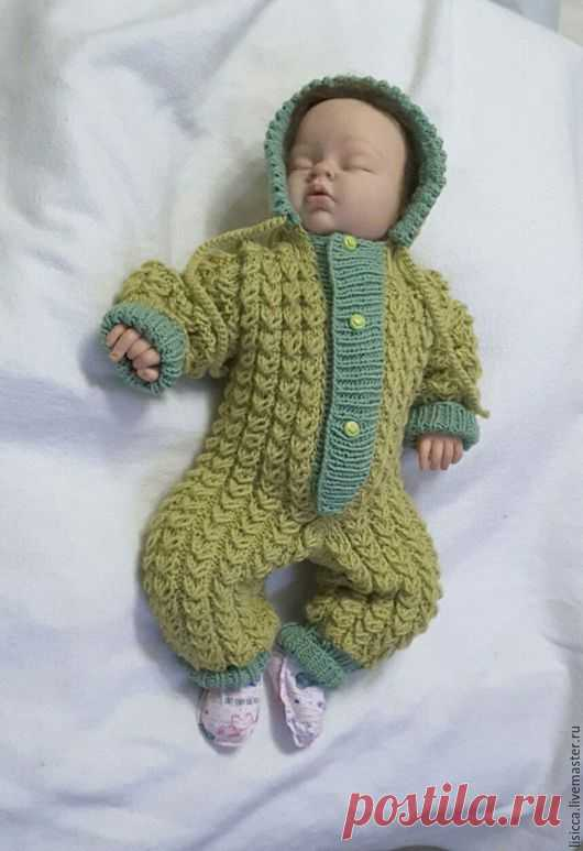 купить комбинезон олива комбинезон вязание для малышей вязание