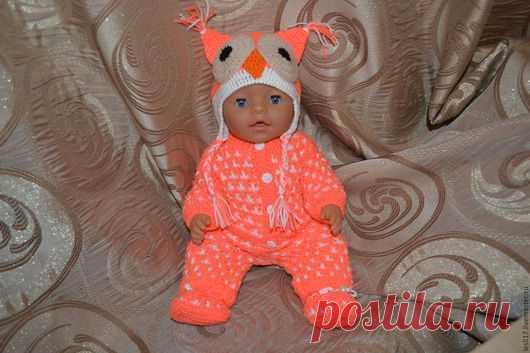 2d4eb37c82d0 Купить Теплый комплект 'Сова' - одежда для кукол, одежда для беби ...