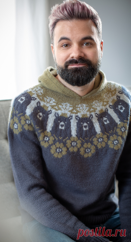 Вязаный свитер Unbearable | ДОМОСЕДКА