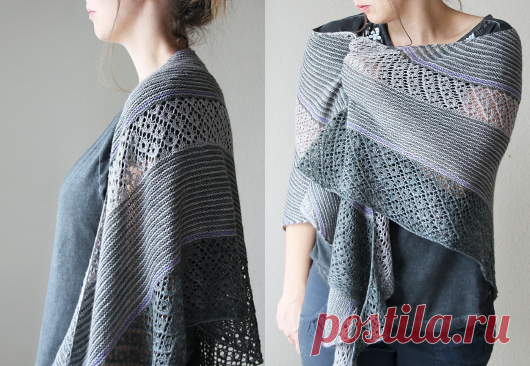Beautiful shawl knitted   STAY-AT-HOME