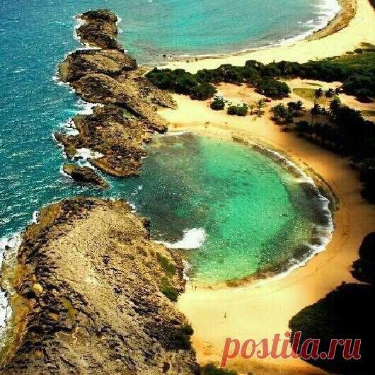 Мар Чикита. Необычный пляж в Пуэрто-Рико