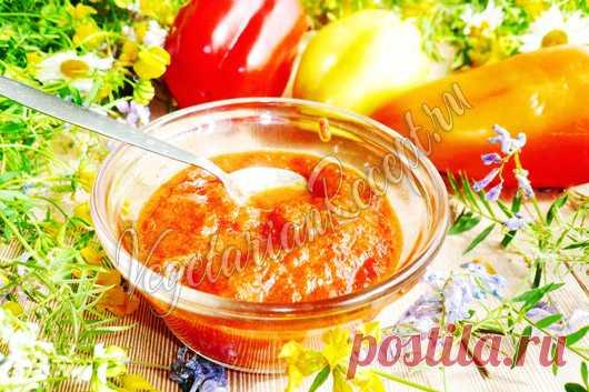 Соус из печеного перца болгарского - рецепт с фото