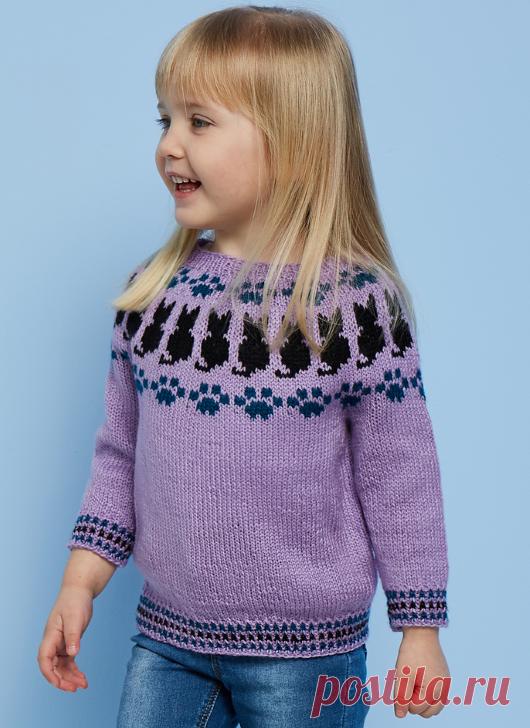 Вязаный пуловер PrettyKitty | ДОМОСЕДКА