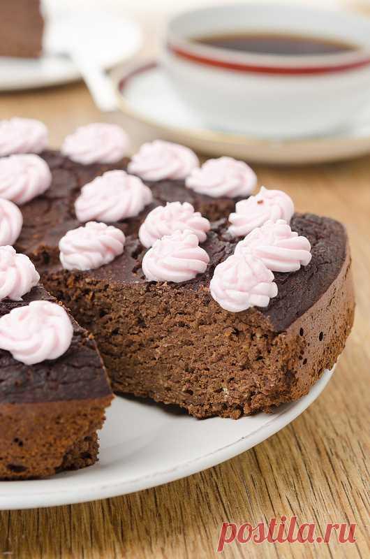 Шоколадно-нутовый пирог. (Рецепт по клику на картинку).