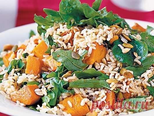 Зимний рис с тыквой и кедровыми орехами