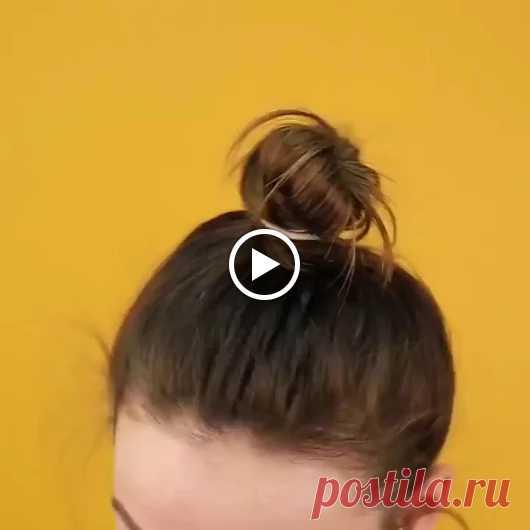 Видео: как правильно делать пучок Прическа «гулька» отлично подойдет для дев...