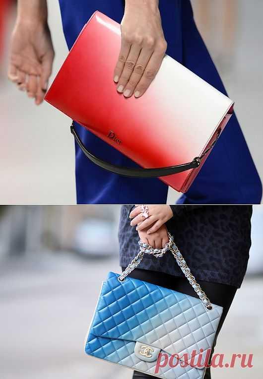 Клатч с градиентом / Сумки, клатчи, чемоданы / Модный сайт о стильной переделке одежды и интерьера