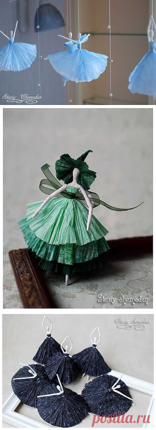 балерины из салфеток фото пройти