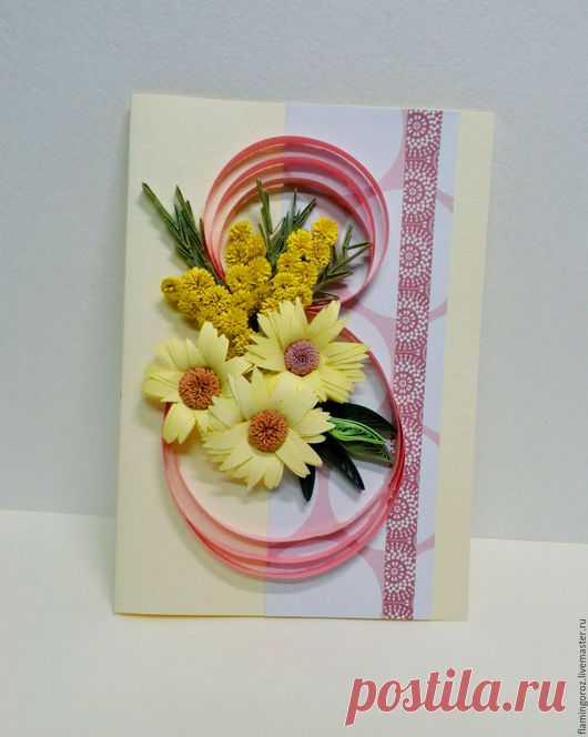 Подольска открытки, открытки на 8 марта в технике квиллинг