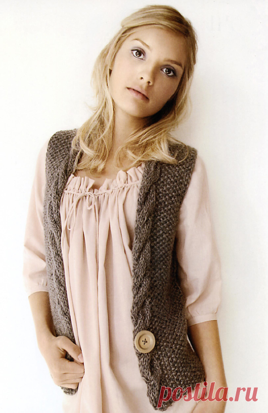 Knitted Amber vest   STAY-AT-HOME