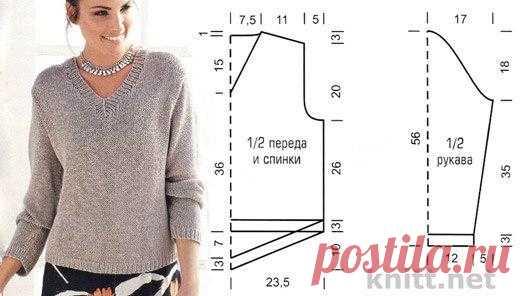 Шикарный вязаный пуловер