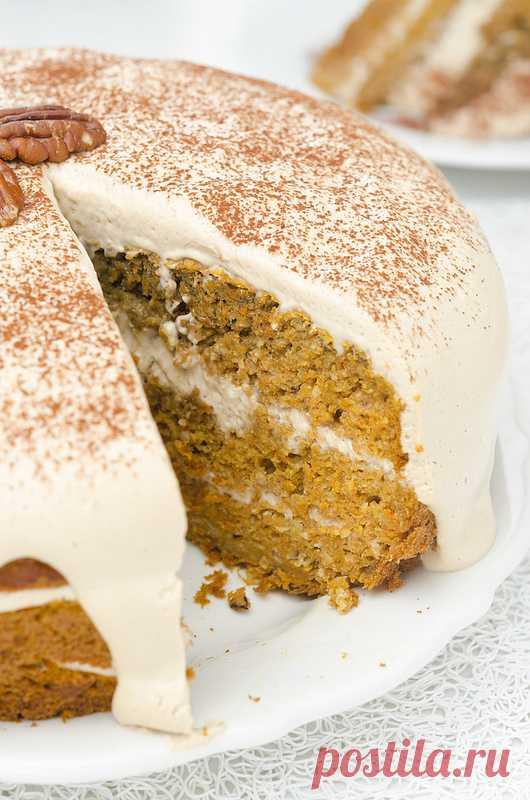 Тыквенно-морковный торт. (Рецепт по клику на картинку).
