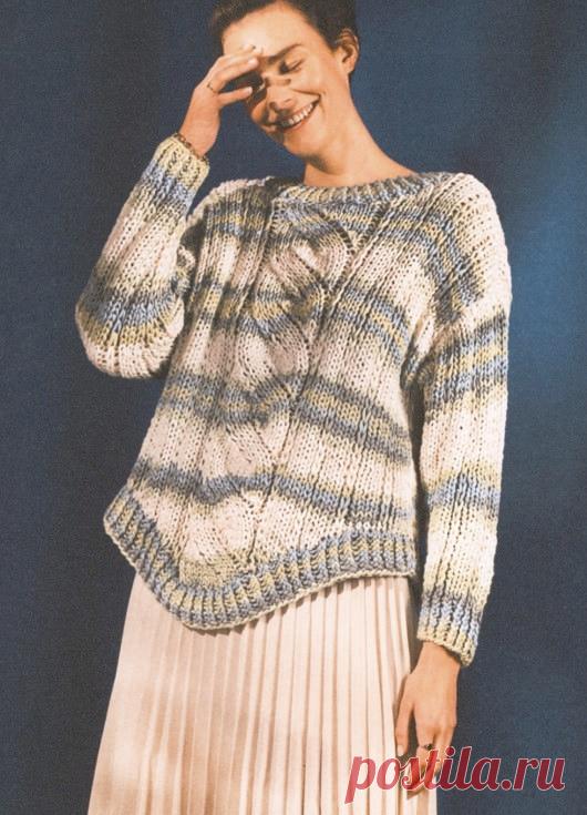 Вязаный пуловер MockСable | ДОМОСЕДКА