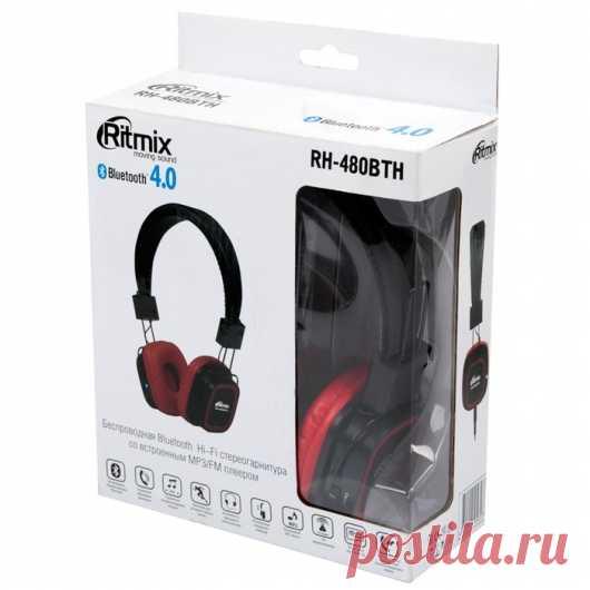 Ritmix RH-480BTH. Цена, отзывы, характеристики, подробные фото. , Чёрный Купить Портативные плееры в интернет-магазине Doctorhead.Ru