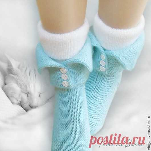 купить дрёмы носки вязаные шерстяные домашняя обувь подарок
