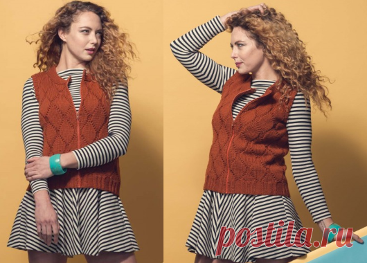 Fashionable knitted vest | STAY-AT-HOME