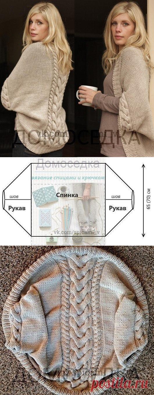 Красивый вязаный шраг от Melissa Schaschwary выполнен спицами узором из кос — Сделай сам, идеи для творчества - DIY Ideas