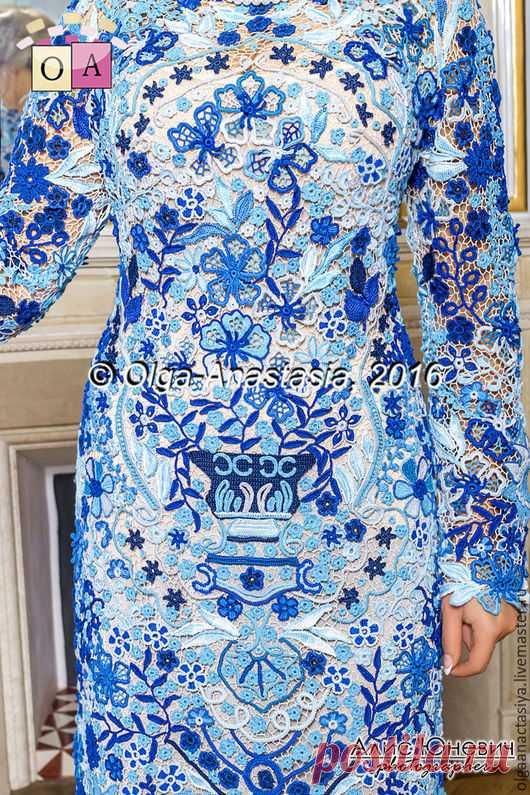 f03fa301c2b Купить Ирландское кружево Платье  Гжель для Ирины