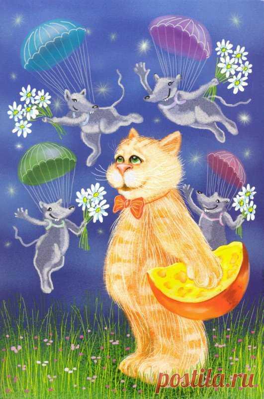 Открытка кот весна, открытки для