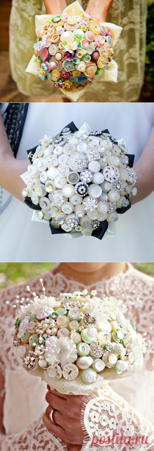 Букеты из пуговиц, свадебные и не только: идеи — Сделай сам, идеи для творчества - DIY Ideas