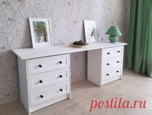Как получить дизайнерскую мебель, потратив 8 тысяч рублей. Стол-комод (класса люкс) своими руками