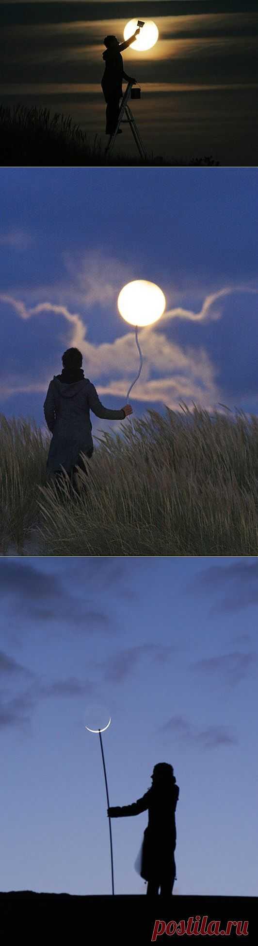 Как сфотографироваться с луной (подборка) / Фото (идеи съемок) / Модный сайт о стильной переделке одежды и интерьера