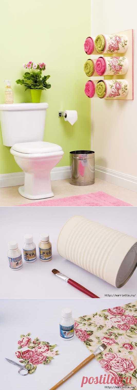 Идейка для ванной комнаты.