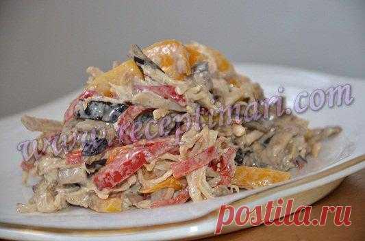Салат из курицы с овощами | Рецепты Мари