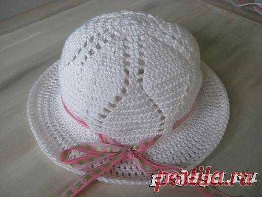 Вязаные шляпы крючком схема